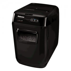 Шредер Fellowes AutoMax 130C, 4х51 мм, 8 лст | автоподача на 130 лст, 32 л, пласт.карты